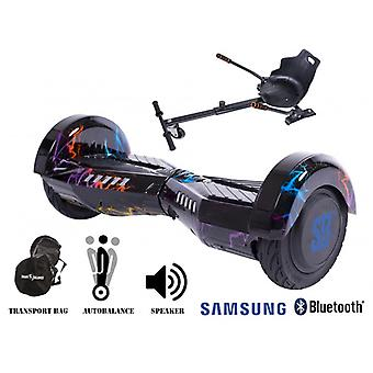 Pakiet Smart Balance™ Hoverboard 8 calowy, Transformers Thunderstorm + Hoverseat, Motor 700 Wat, Bluetooth, Led
