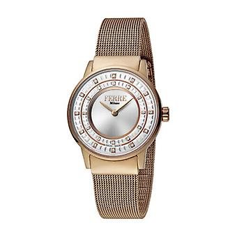 Ferre Milano Women's FM1L102M0071 Silver Dial Rose-Gold IP Stainless Steel Watch