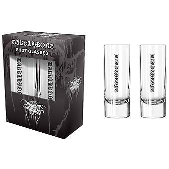 Darkthrone Shot Glasses Band Logo new Official Black Boxed 2 Pack