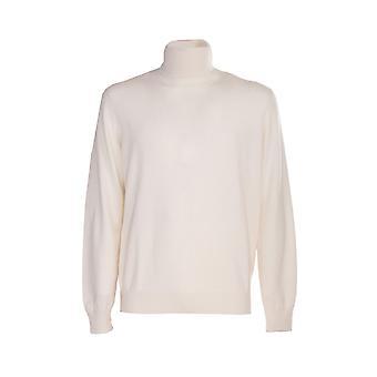 Brunello Cucinelli M2200103cv627 Men's White Cashmere Sweater