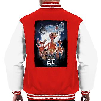 E.T. The Extra Terrestrial Cinematic Poster Montage Men's Varsity Jacket