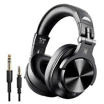 OneOdio Fusion A70 Studio Bluetooth Headphones with 6.35mm and 3.5mm AUX Connection - Headset with Microphone DJ Headphones
