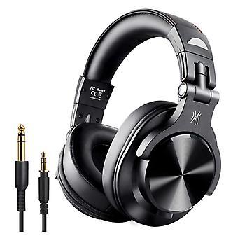 """אוזניות Bluetooth Studio A70 Studio OneOdio עם חיבור AUX של 6.35 מ""""מ ו-3.5 מ""""מ - אוזניות עם אוזניות DJ מיקרופון"""