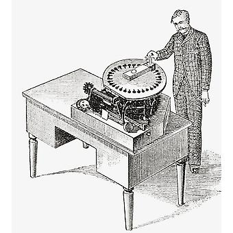 A Typewriter Of 1836 From The Strand Magazine Published 1897 PosterPrint