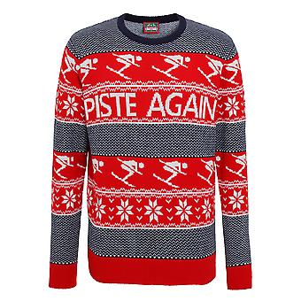Christmas Shop Mens Piste Again Knitted Jumper