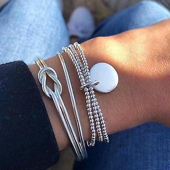 Crystal Multi-layer Bracelets Adjustable Lasso Lobster Bracelet Jewelry
