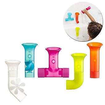 Tomy boon pipes baby bath toy | bath accessories for babies & toddlers | 5 multicoloured water pipes