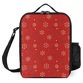 Snowflake Pattern Lunch Bags