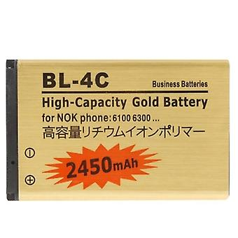 2450mAh BL-4C High Capacity Gold Business Battery für Nokia 1661 / 6260S