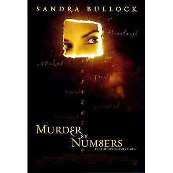 Murder by numerot elokuvan juliste tulosta (27 x 40)