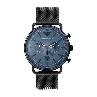 Armani Ar11201 Musta & Sininen Miesten Kronografi Kello