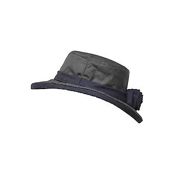 Walker and Hawkes - Ladies Wide Brimmed Wax Windsor Hat With Flower