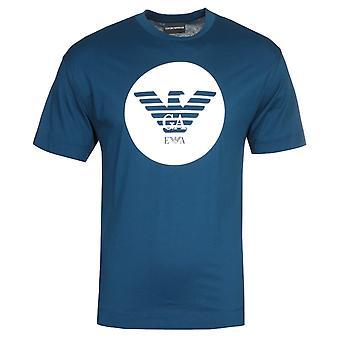 Emporio Armani Circle Eagle Logo Blue T-Shirt