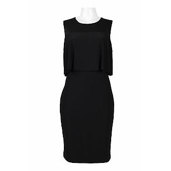 Neun West Crew Neck Sleeveless Popover Solid Jersey Kleid