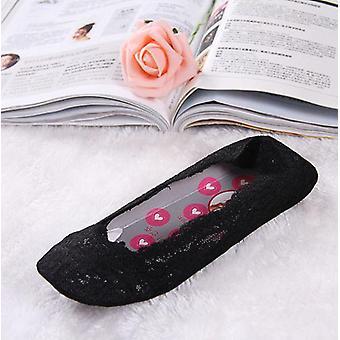 kvinners bomull blonder antiskid usynlig liner sokker, elastisk behagelig, sommer,