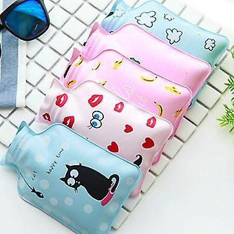 Hot Water Bottle, Cute Cartoon Portable, Cold-proof Fleece Bag, Hand Warm, Safe