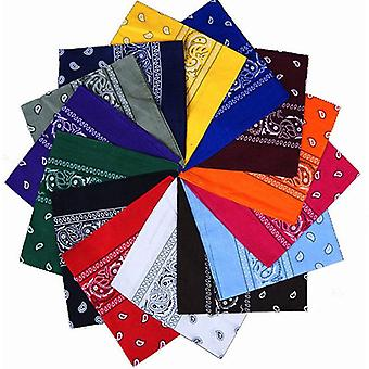 1pc Newest 100% Cotton Hip-hop Bandanas For Male Female Head Scarf Scarves