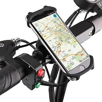 Silicone Bicycle Phone Holder Motorcycle For Smart Phone Gps Clip Quick Mount