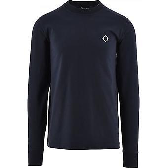 MA.STRUM Navy Long Sleeve Icon T-Shirt