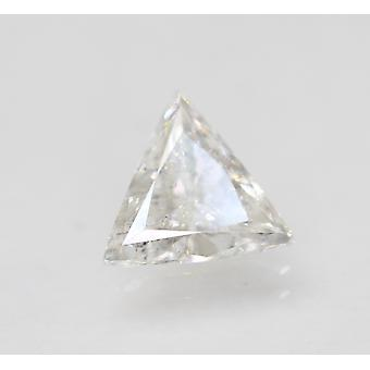 معتمد 1.02 قيراط E VS2 المثلث المحسن الطبيعية فضفاضة الماس 8.23x7.6mm