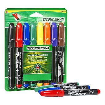 Redimark+ Chisel Tip Permanent Markers, 8-Color Set