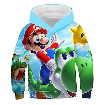 3d Print Hoodie Super Mario Cartoon Clothing Sweatshirt Mode