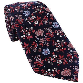Michelsons van Londen Levendige Floral Silk Tie - Coral