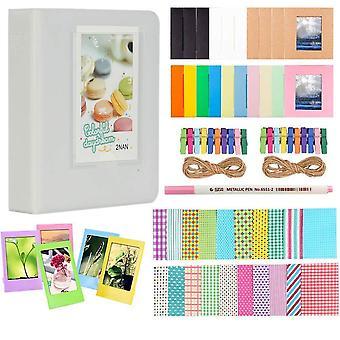 Anter photo album accessories for fujifilm instax mini camera, hp sprocket, polaroid zip, snap, snap