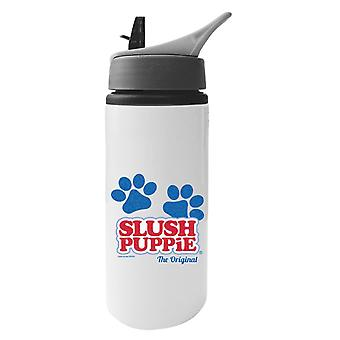 Slush Puppie Paws Logo The Original Aluminium Water Bottle With Straw