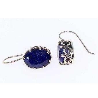 Scrollwork & Lapis Lazuli Gemstone Earrings