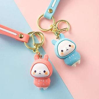 Cute Rabbit Doll Keychain, Pendant Creative Personality, Car Chain Ring