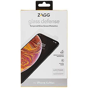 ZAGG InvisibleShield Glass Defense - Protector de pantalla de vidrio templado Lightwieght - Hecho para Apple iPhone X / XS - Caja amigable