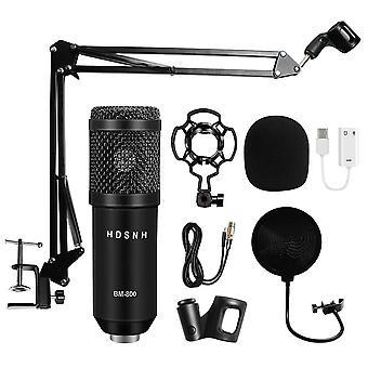 Lauhduttimen mikrofoni 3,5mm langallinen Bm-800 Karaoke Bm800 -tallennusmikrofoni