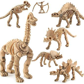Dinosaur Skeleton Fossils Assorted Bones Figures