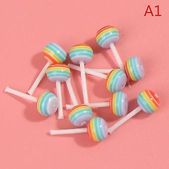 Dollhouse Miniature Food Dessert Sugar Lollipops
