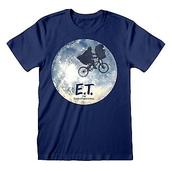 E.T. the Extra-Terrestrial Unisex Adult Moon Silhouette T-Shirt