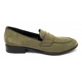 Moccassus Man Ancient Leather Shop Mod. Amalfi Leather Green Suede Forest Us19ac05