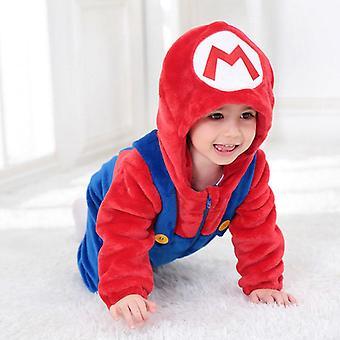 Мэри костюм Baby Ромпер Симпатичные Мягкие Onesie Зимняя теплая одежда с капюшоном костюм