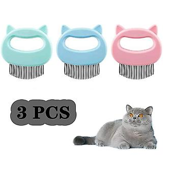3 Pcs Cat Massage Shell Comb Épilation pour animaux de compagnie Massaging Shell Comb Suppression