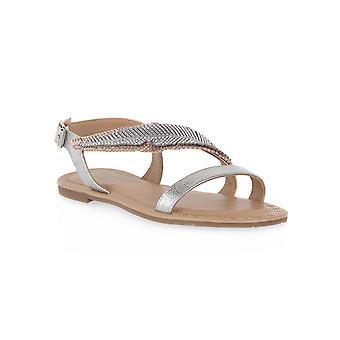 Sandalias de sandalias asimétricas Cafe noir l003