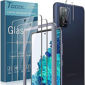 TOCOL 4 Stck Schutzfolie kompatibel mit Samsung Galaxy S20 FE 4G/5G 2 Stck und 2 Stck Kamera