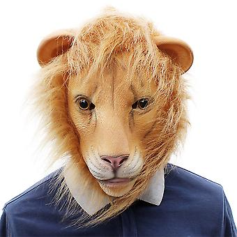 Christmas Gift Cosplay Animal Lion Latex Mask Party Costume Props