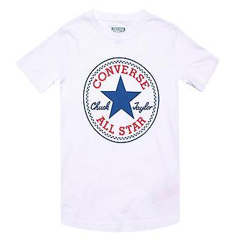 Boy's Converse Junior Chuck Patch T-shirt i hvid