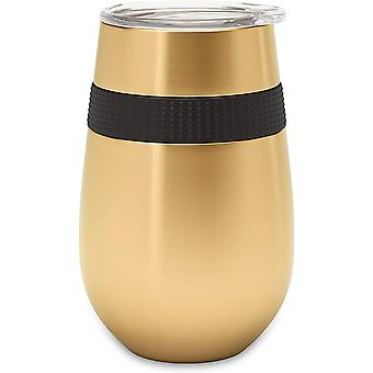 Reusable Coffee Cup - DZK - 12oz/340ml - Premium Insulated Tumbler with Lid - Keep On-The-Go Drinks