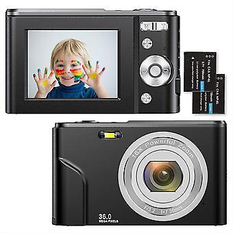 "Digitalkamera 1080P HD Kompaktkamera 36 Megapixel Mini-Videokamera 2,4"" LCD Digitalkamera"