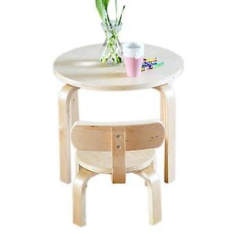 1 scrivania + 1 sedie imposta set di mobili per bambini in legno massello