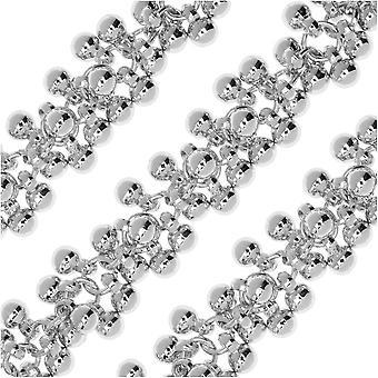Laatste verkoop - Charm Chain, 4 mm ronde snuisterij cluster, zilvertint verguld, door de inch