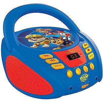 FengChun RCD108PA Paw Patrol Tragbarer CD-Player für Kinder, Mikrofonanschluss, AUX-Eingangsbuchse,