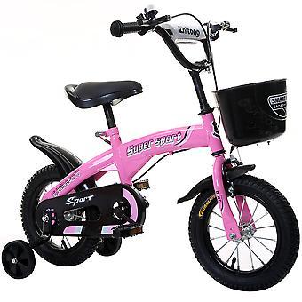Bicicleta kids para rodas de treinamento de meninos e meninas assento ajustável assento 12 14 16 18 polegadas Branco Rosa Verde Laranja