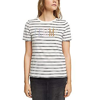 edc by Esprit 011CC1K318 T-Shirt, 110/white off, L Woman